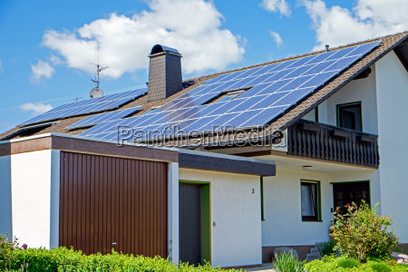 house with solar cells in germany