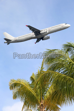 plane takes off during holidays travel