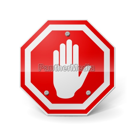red metal stop sign