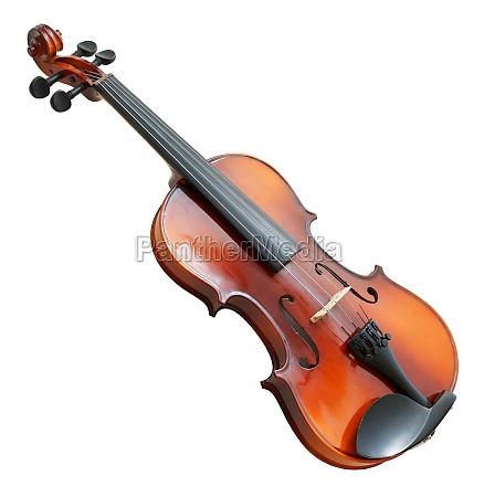 klassische moderne violine isoliert auf weiss