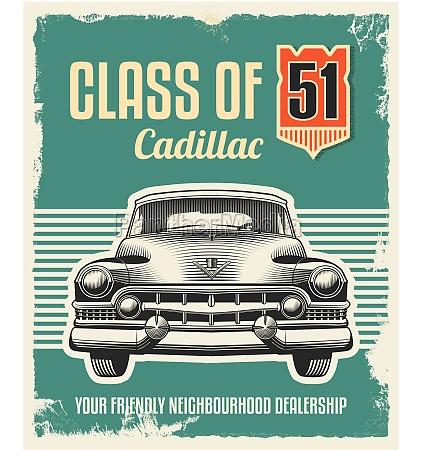 vintage retro sign classic car