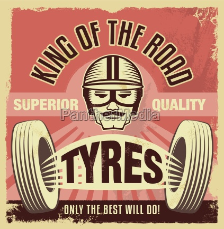 vintage sign retro garage poster