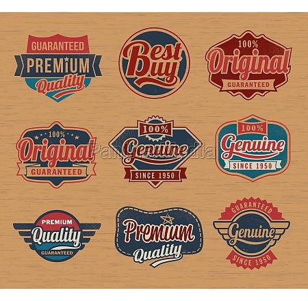 vintage retro label badges vector