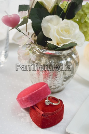present ring furniture flower plant rose