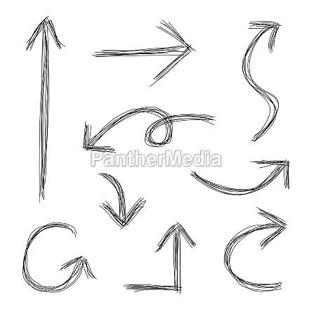 scribble arrows