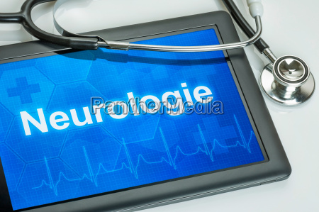 tablet with the department of neurology