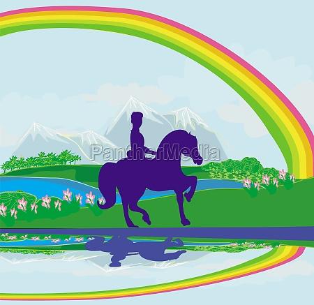 berge reiten pferd ross haustier verkehr