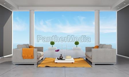 innenraum eines modernen ferienvilla