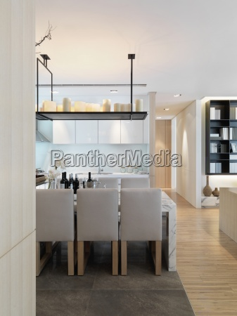 dining area in modern home