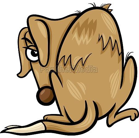 AErzterliches hundecartoon illustration