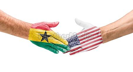 handshake ghana und usa