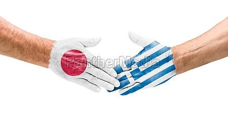 handshake japan und griechenland