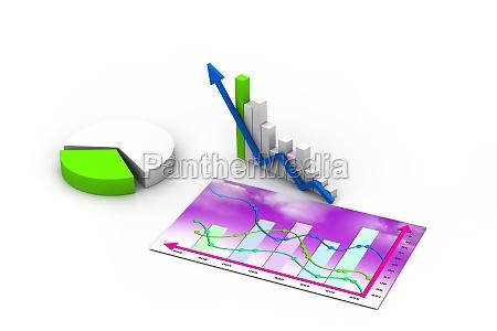 business graph chart diagram bar