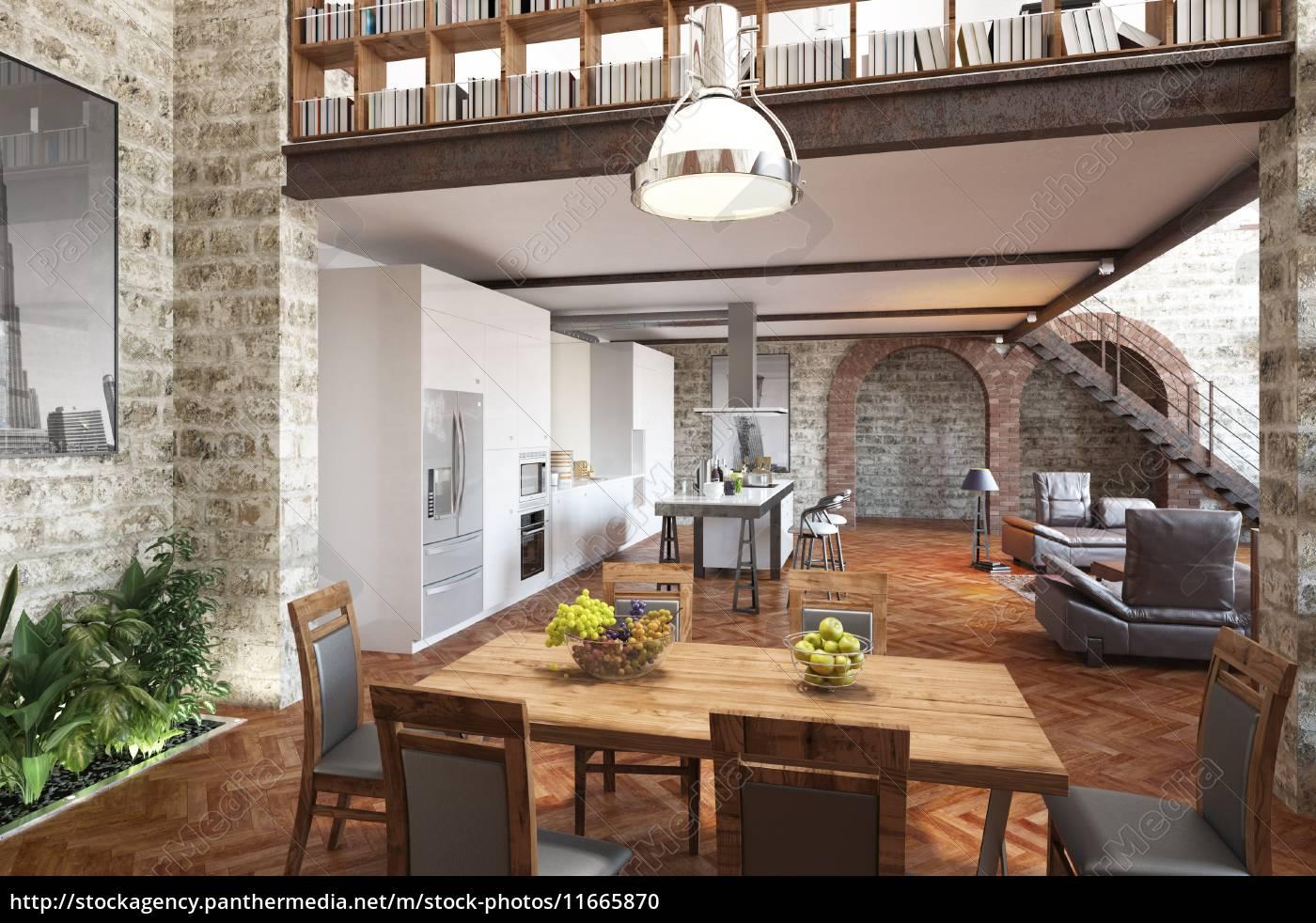 moderne ess und wohnzimmer