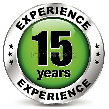 15 jahre erfahrung