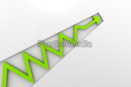 green arrow in business graph