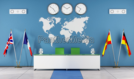 moderne klassenzimmer einer sprachschule