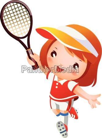 maedchen spielen tennis
