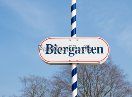 biergarten zeichen