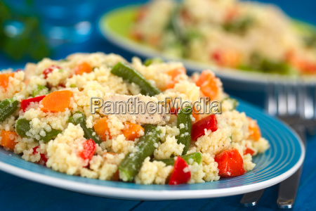 couscous with chicken green bean carrot