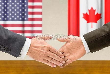 vertreter der usa und kanadas reichen