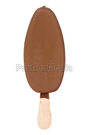 schokoladenbedecktes eis