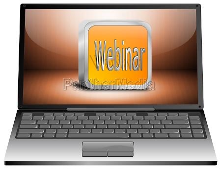 laptop mit webinar