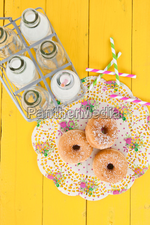milk and donuts