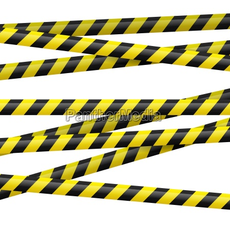 black and yellow danger tape