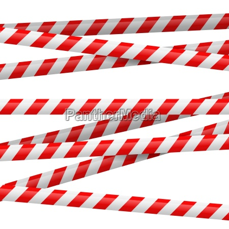 red and white danger tape