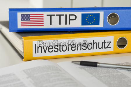 file folders labeled ttip and investor
