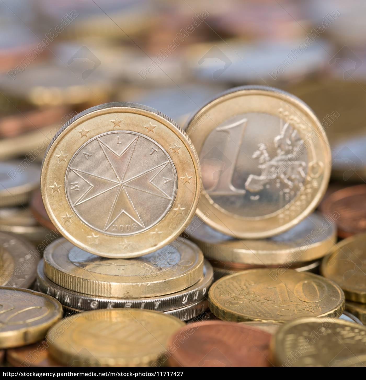 Stockfoto 11717427 1 Euro Münze Aus Malta