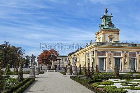 wilanow palace warsaw poland