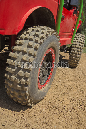 tires of the offroad car