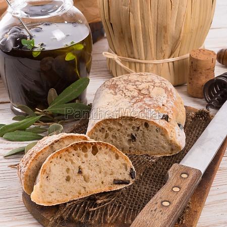 home made olive ciabatta