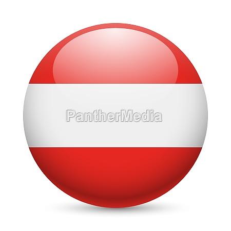 round glossy icon of austria