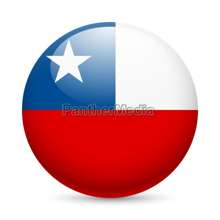 round glossy icon of chile