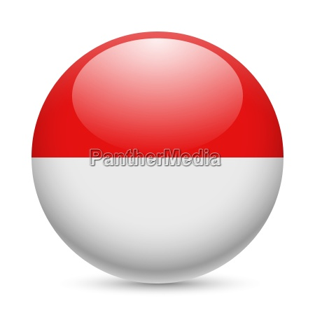 round glossy icon of indonesia