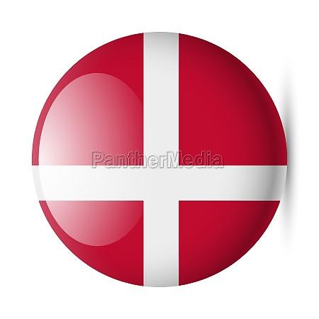 round glossy icon of denmark