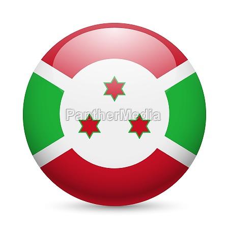 round glossy icon of burundi