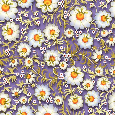 abstraktes nahtloses blumenschmuck mit fruehlingsblumen