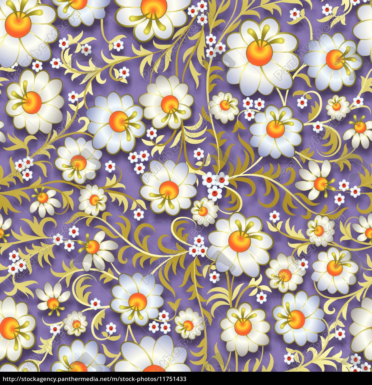 abstraktes, nahtloses, blumenschmuck, mit, frühlingsblumen - 11751433