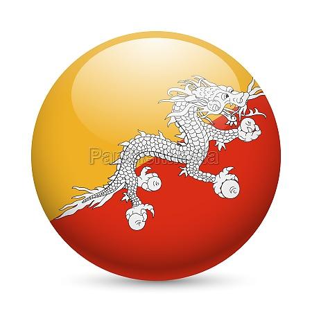 round glossy icon of bhutan