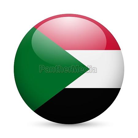 round glossy icon of sudan