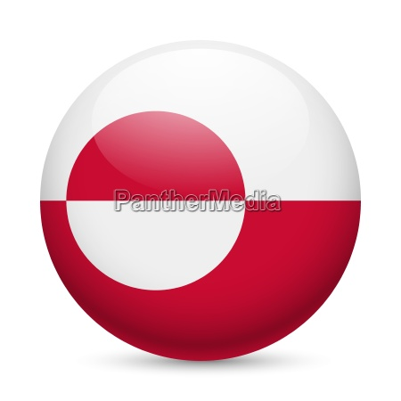 round glossy icon of greenland