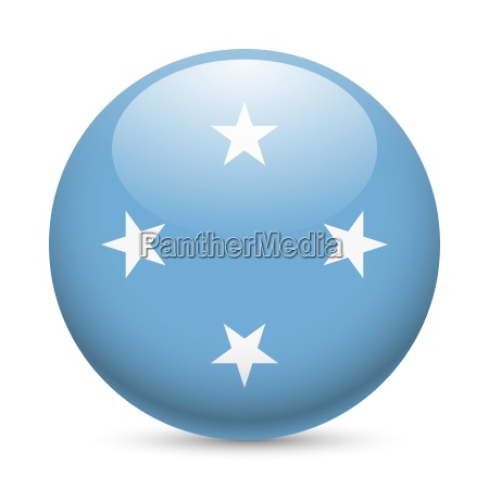 round glossy icon of micronesia
