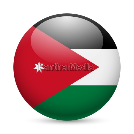 round glossy icon of jordan