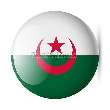 round glossy icon of algeria