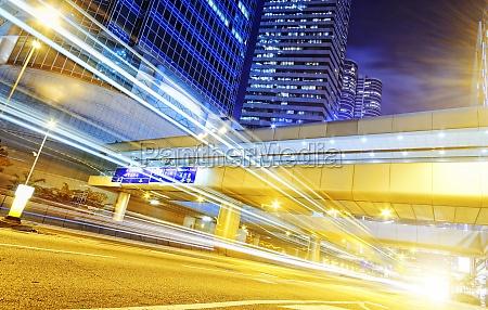 hong kong moderne stadt hochgeschwindigkeitsverkehr