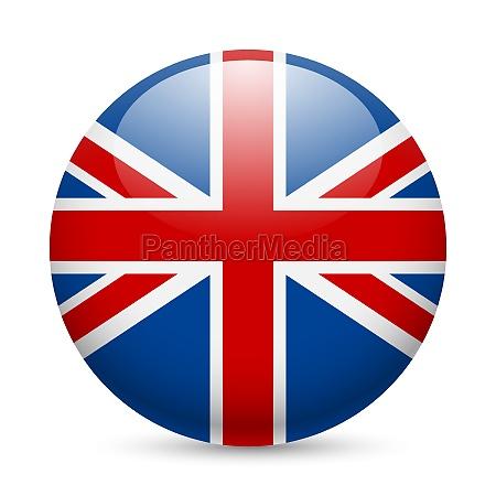 runde hochglanz symbol grossbritannien